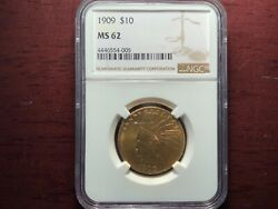 1909 10 Gold Indian Ngc Ms62 Premium Quality