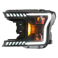 Headlight Assembly For Ford F-150 18-21 Led Headlamp Assembly Blackpair