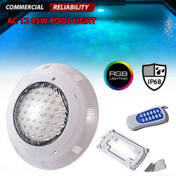 12v Led Rgb Color Changing Above Ground Swimming Pool Light Underwater W/ Remote