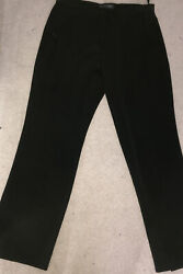 Marks And Spencers Black Slim Leg Trousers Size 14 Work Office Wear