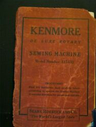 Antique - Kenmore De Luxe Rotary Sewing Machine - Booklet