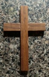 Wooden Cross with hole for string or chain Big Cross for Rosary Part $8.00