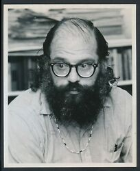 1970 Allen Ginsberg, The Poet Of The Sixties Generation Unique Photo
