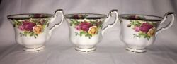 3 Royal Albert Doulton Old Country Roses Tea Cups New
