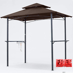 Mastercanopy Grill Gazebo 8 X 5 Double Tiered Outdoor Bbq Gazebo Canopy With Led