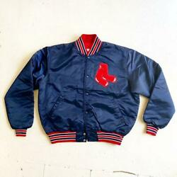 Mlb Boston Red Sox Starter Nylon Jacket Size Xl Made In Usa Vintage Official