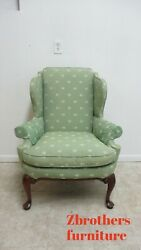 Southwood English Living Room Arm Wing Chair Queen Ann Fireside Lounge