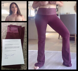 Christy Canyon Sexy Adult Star Signed Owned Yoga Pants W/her Coa