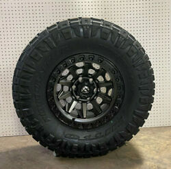 17x9 Fuel D716 Covert Gray Wheels Rims 35 Nitto At Tires 5x5 Jeep Gladiator Jt