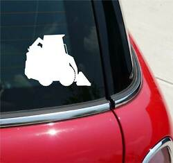 SKID STEER LOADER LOADERS SILHOUETTE GRAPHIC DECAL STICKER ART CAR WALL DECOR