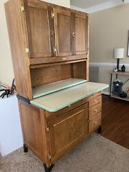 Original Antique Oak Sellers Hoosier Cabinet With Sifter Jar And More