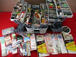 Huge Flambeau 7-tray Fishing Tackle Box Filled W/ Tons Of Fishing Lures And Tackle