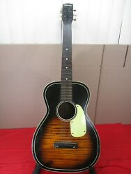 Vtg Sears Silvertone 18 Fret Acoustic Parlor Guitar Tobacco Sunburst 1950and039s-60and039s