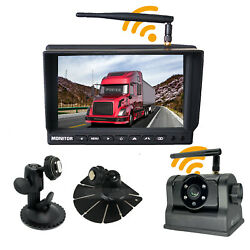 Iposter Wireless 7 Monitor Dual Mount Magnetic Base Hitch Battery Backup Camera