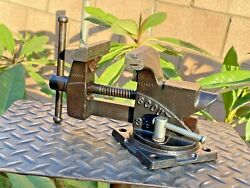 Vintage Wilton Scout Swivel Anvil Vise 3-1/2''jaws,cast Iron Vice W/pipe Grips