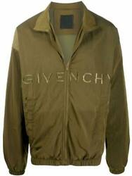 Givenchy Menand039s Green Polyamide Outerwear Jacket