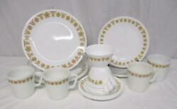 Vintage Corelle Pyrex Butterfly Gold Dishes Plates Cups Mugs Saucers 20 Pieces