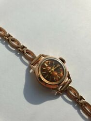 Chaika Vintage Ladies Watch 583 Solid 17k Russian Gold