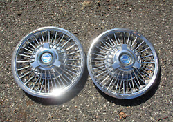 Genuine 1965 1966 Ford Mustang 14 Inch Wire Spoke Spinner Hubcaps Wheel Covers