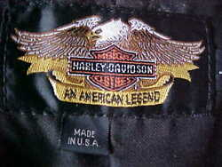 Harley Davidson Leather Riding Vest - Men's Brown Patches Large
