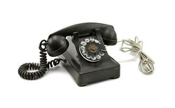 Vintage Bell Systems Western Electric F1 Black Rotary Desk Telephone Phone