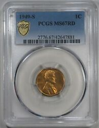 1949-s Lincoln Wheat Cent Pcgs Ms67rd