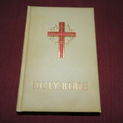 Large Antique 1956 Catholic De Luxe Edition Holy Bible Good Counsil Religious