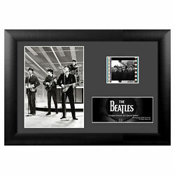 Collections Etc Collectible Beatles Mini-cell Framed Art Presentation