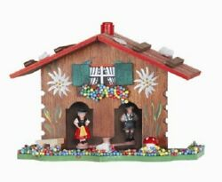 German Weather House With Hand Painted Edelweiss Flowers Germany Weatherhouse
