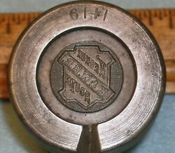 Antique Keokuk And Western Rr Coat Button Stamping Die Kandwrr Mc Lilley