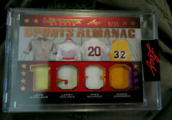 2021 Magic Johnson M Schmidt Nicklaus + Leaf Ultimate Sports 4 Game Used 6/30