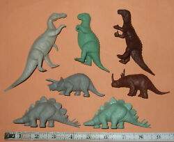 7 Old Marx Dinosaurs For Prehistoric Playsets