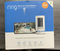 Ring Stick Up Cam Battery Powered Indoor Outdoor Camera With Two-way Talk