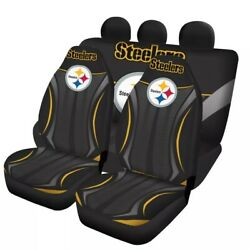 Us Pittsburgh Steelers Car Seat Covers Front Rear 5 Seater Pickup Car Floor Mats