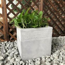 Plant Pot 15 In. Drainage Holes Light Weight Uv Resistant Durable Concrete