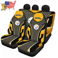 Usa Pittsburgh Steelers Seat Covers Car Truck Suv 5 Seater Front Rear Protectors