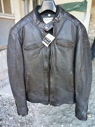 Helstons And039cruiserand039 Brown Leather Jacket Size L