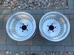 Vintage Center Line Auto Drag Wheels 15 X 11 1/2 With 5 On 5 Bolt Pattern Nice