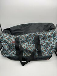 Triangle Premium Beach Bag Tote Carry All Black With Blue Brown amp; Attached Coin $14.99