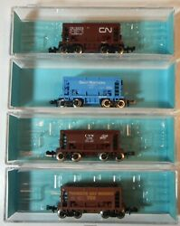 Atlas N Scale Set Of 4 Ore Cars Cn, Great Northern, Cnw, Thunder Bay Lr007