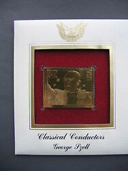 1997 Classical Composers George Szell Replica Gold Golden Cover Stamp