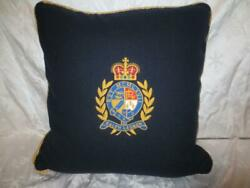 Vintage Wool And Alpaca Rl Embroidered Crest Crown 20 Throw Pillow