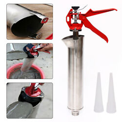 Grouting Mortar Sprayer Applicator Tool For Cement Lime Gun+2 Plastic Nozzle Usa