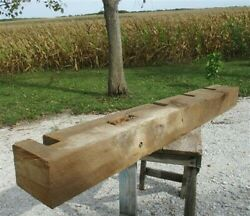 Reclaimed Barn Beam Wood Float Shelf, Architectural Salvage Fireplace Mantel A5,
