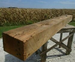Reclaimed Barn Beam Wood Shelf, Architectural Salvage Fireplace Mantel A13,
