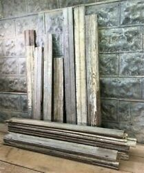Reclaimed Wainscoting Bead Board Pieces, Architectural Salvage Vintage A3,