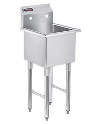 Stainless Steel Prep And Utility Sink Durasteel 1 Compartment Commercial Sink