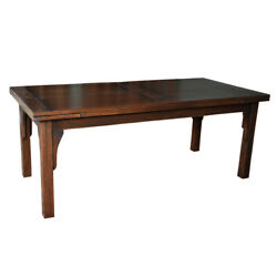 Mission Style Oak Stow Leaf Dining Table 2 Colors Available