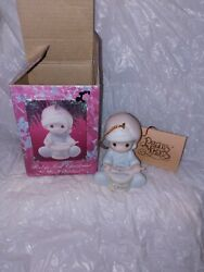 Precious Moments Ornament Babys 1st First Christmas 1991 Boy/playing Drum Box