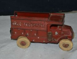1930and039s- Hubley Cast Iron- Bell Telephone Mack Truck - Orignal Paint - 2011